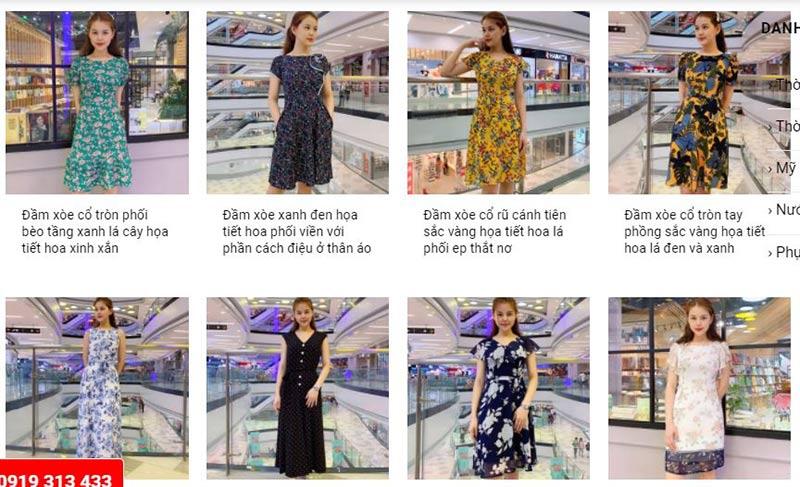 Nguồn hàng váy đầm sỉ online tại kho hàng sỉ Lami