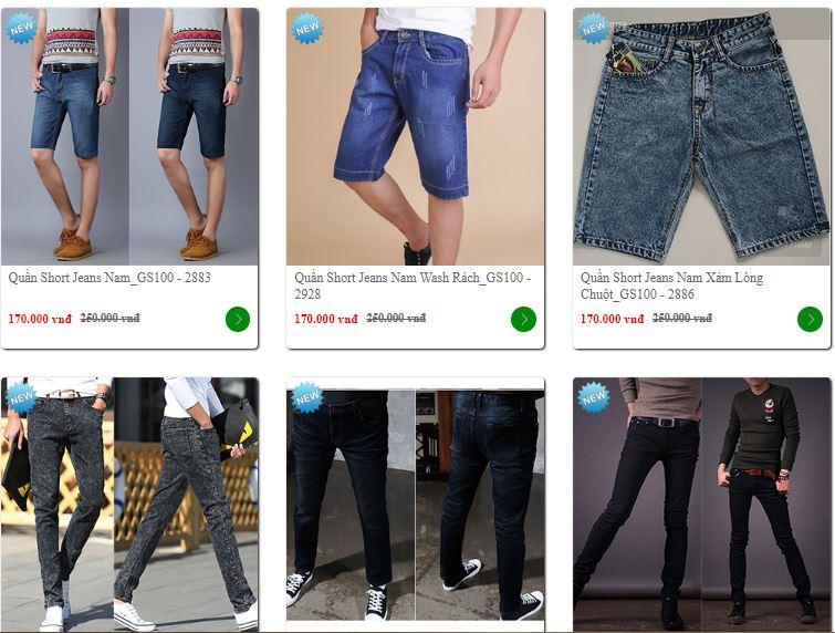 bán sỉ quần jean nam giá rẻ