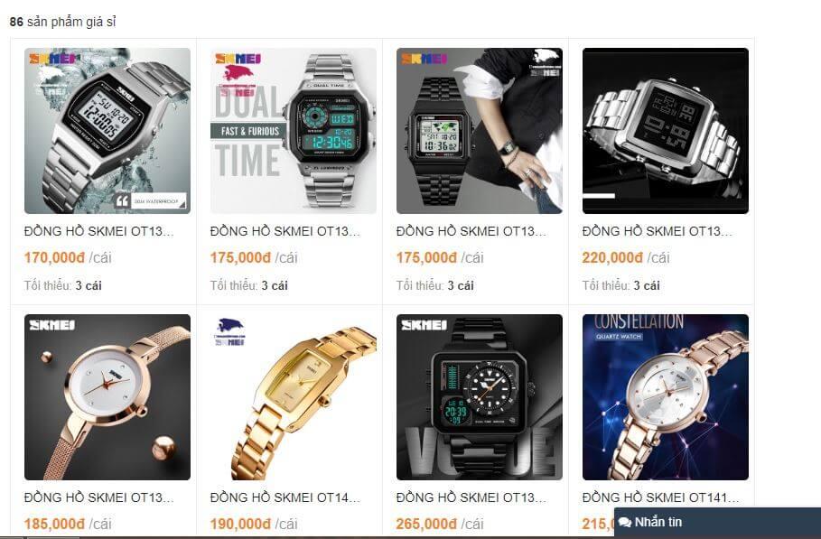 Đồng hồ giá sỉ chất lượng