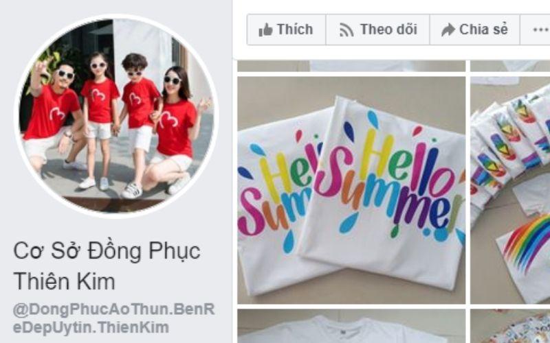 Xưởng áo thun sỉ giá rẻ Thiên Kim