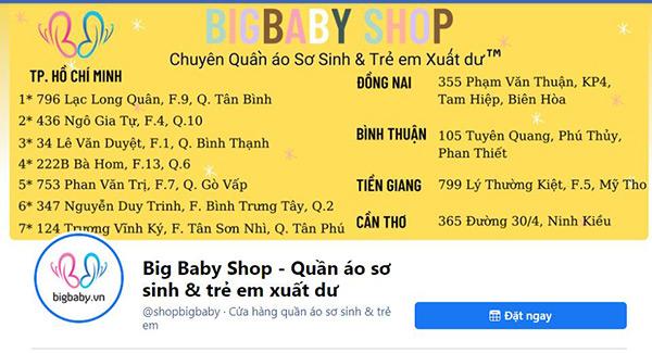 Đồ trẻ em tại Big Baby Shop