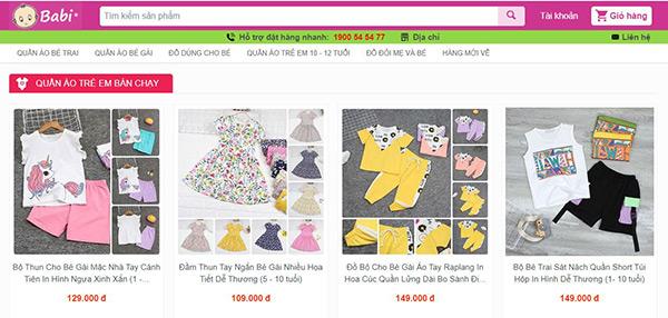 Shop đồ bộ trẻ em tại Babi.vn