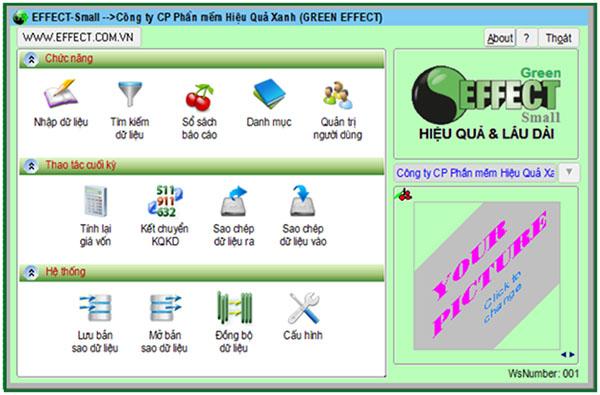 Phần mềm kế toán doanh nghiệp Effect