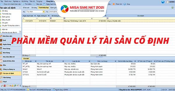 Phần mềm quản lý tài sản Misa QLTS.VN