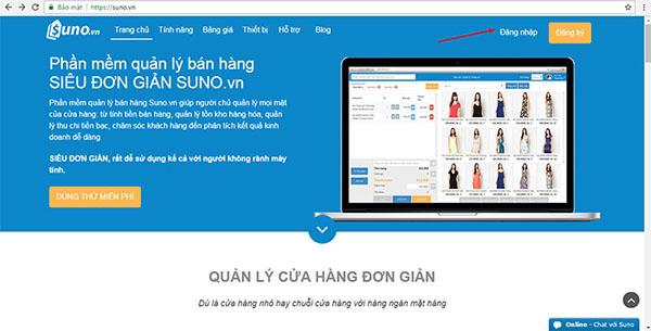 Phần mềm hỗ trợ bán hàng Suno